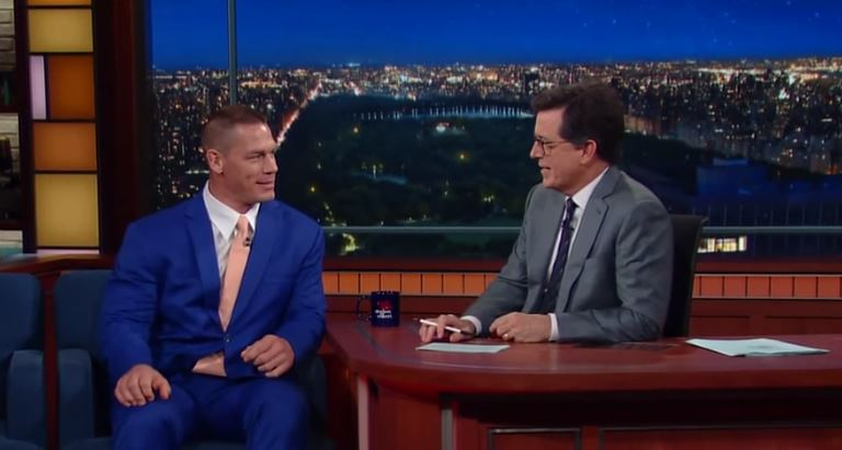 John Cena On The Late Show Comparing Penis Sizes With Stephen Colbert Fightful Wrestling