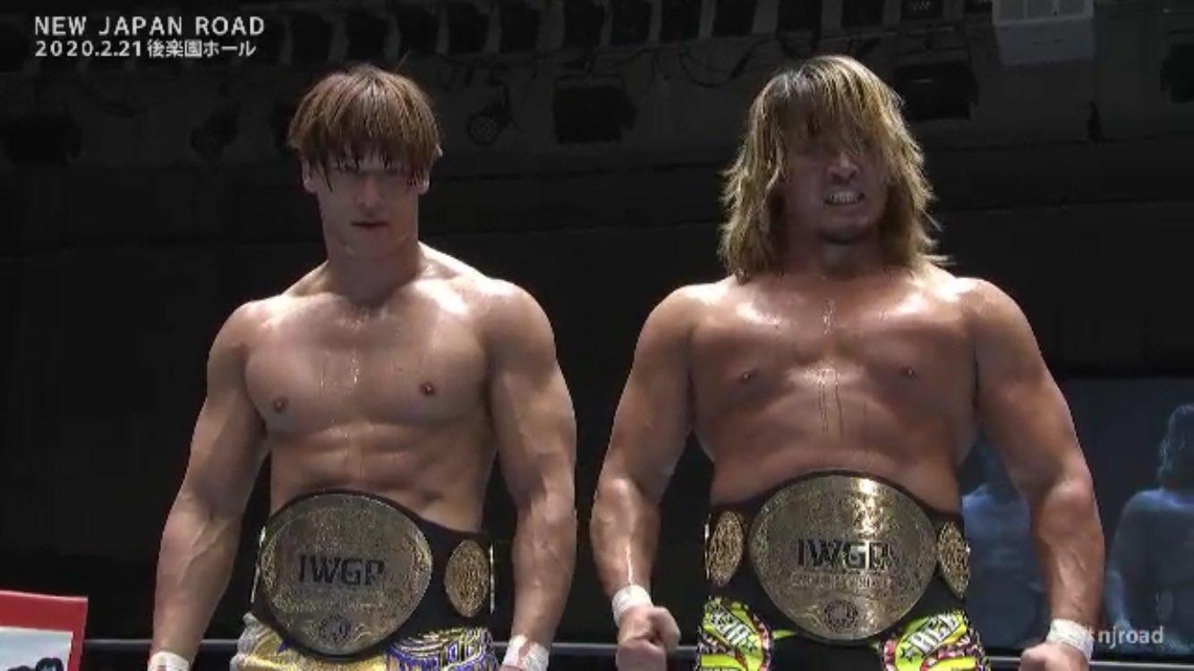 Novos IWGP Tag Team Champions são coroados