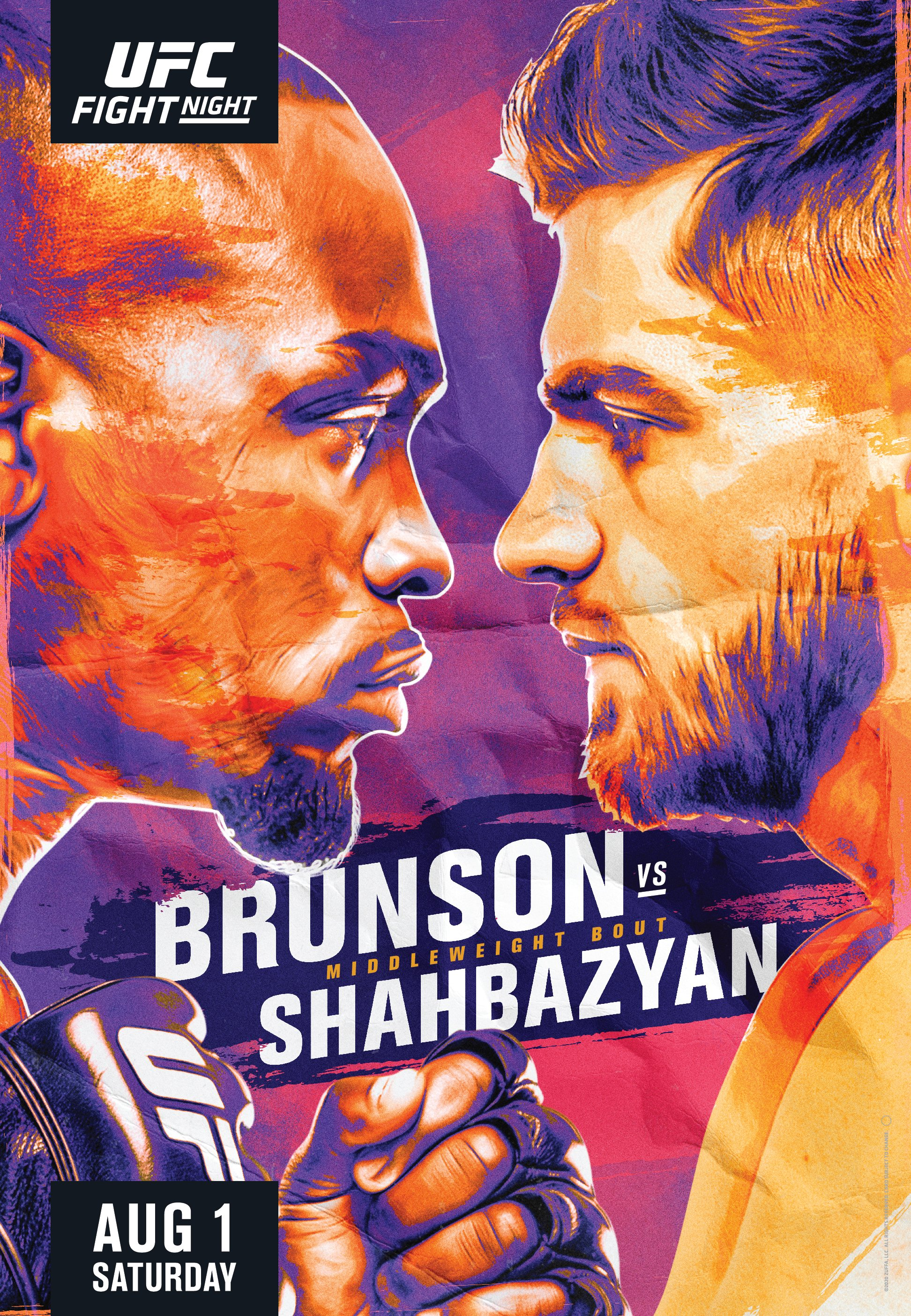UFC Fight Night: Brunson vs. Shahbazyan Live Stream, Full Card ...