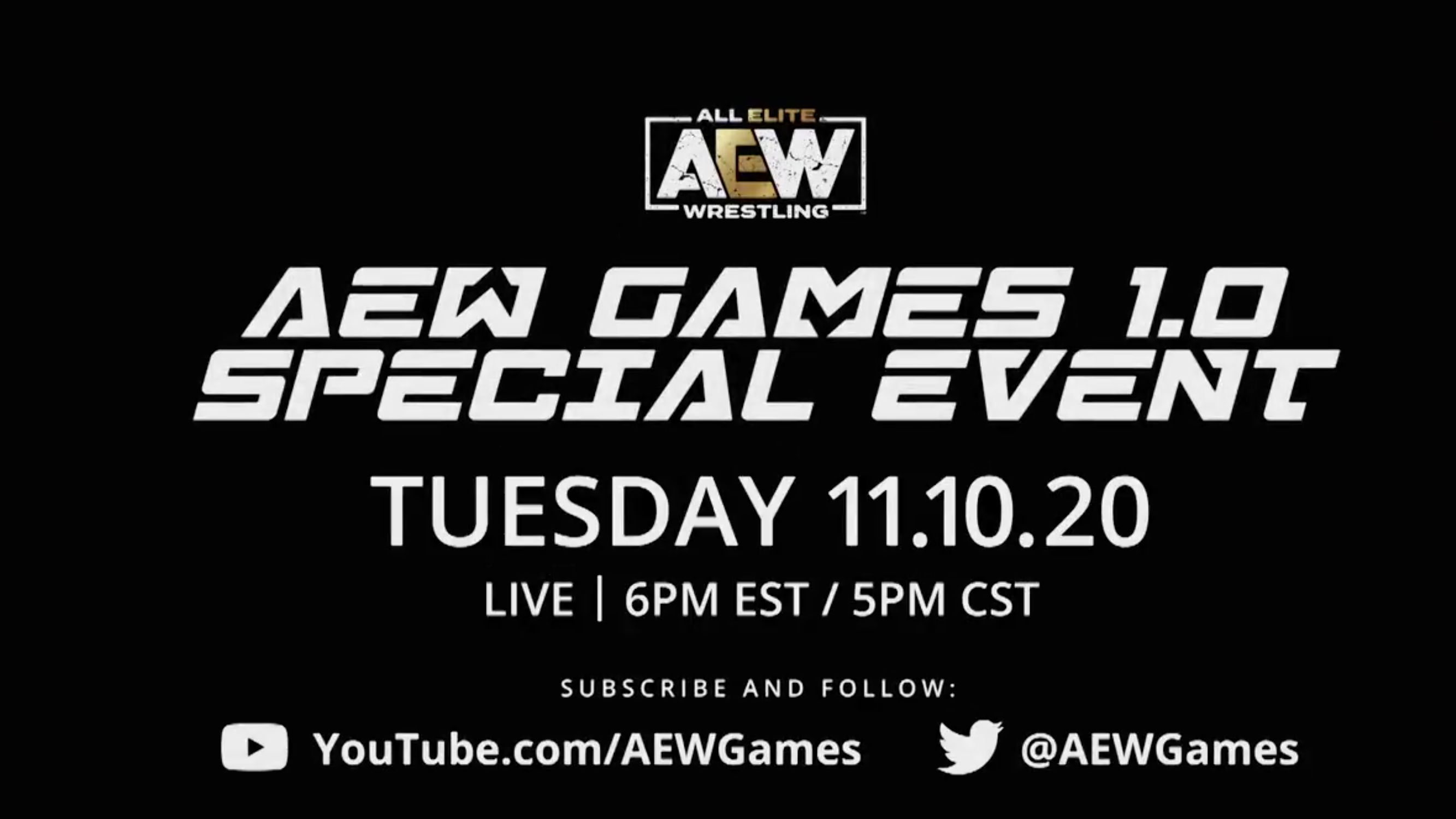 AEW Games To Hold A Special Event On November 10