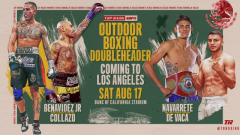 Navarrete vs. De Vaca, Benavidez vs. Collazo Announced As ESPN Doubleheader For August 17