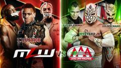 Vikingo, Golden Magic & Myzteziz Jr. To Defend AAA Trios Titles Against Injustice At MLW-AAA Show