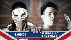 Bandido vs. Mike Bailey Announced For ROH Honor United UK Tour