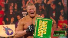 Brock Lesnar Arrives Late; Wins Men's Money In The Bank Ladder Match