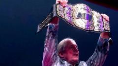 Bret Hart Helps Unveil All Elite Wrestling World Title