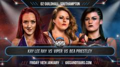 Viper Defeats Kay Lee Ray And Bea Priestley For WOS Women's Title At WOS' Southampton Show