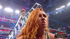 Ronda Rousey Pushes Becky Lynch And Charlotte Flair Off Ladder, Asuka Wins SmackDown Women's Title At WWE TLC