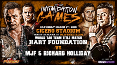 Hart Foundation To Defend MLW Tag Titles Against MJF And Richard Holliday At Intimidation Games