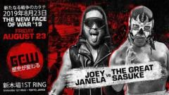 GCW The New Face Of War Results (8/23): Sasuke vs. Janela, Kasai vs. G-Raver, More