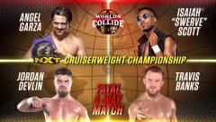 Jordan Devlin & Travis Banks Secure Spots In NXT Cruiserweight Title Match At WWE Worlds Collide