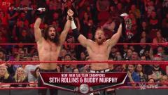 Seth Rollins & Buddy Murphy Win WWE Raw Tag Team Titles From Viking Raiders