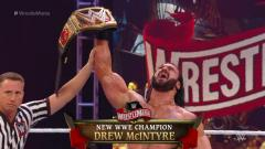 Drew McIntyre Slays Brock Lesnar, Wins WWE Title At WrestleMania 36
