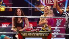 Alexa Bliss & Nikki Cross Defeat Kabuki Warriors To Win Women's Tag Titles At WrestleMania 36