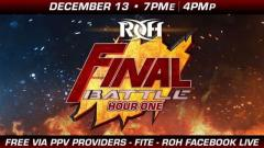 Ring of Honor Wrestling Presents Final Battle 2019