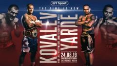 Fight-Size Boxing Update: Kovalev vs. Yarde On ESPN+, Amir Imam With Top Rank, Ritson-Davies Jr.