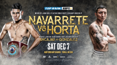 Emanuel Navarrete vs. Francisco Horta Announced For December Top Rank On ESPN+ Card in Mexico