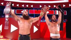 Seth Rollins And Braun Strowman Win Raw Tag Team Titles