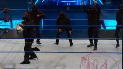 Retribution Shows Up On WWE SmackDown, Cuts Down Ring Ropes With A Chainsaw