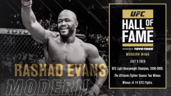 Rashad Evans To Be Inducted Into 2019 UFC Hall Of Fame