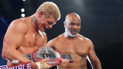Cody Helped Rub Baby Oil On Mike Tyson At AEW Double Or Nothing
