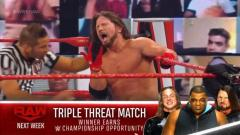 Triple Threat Match For Future WWE Title Match Set For 11/30 WWE Raw