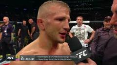 TJ Dillashaw after knocking out Cody Garbrandt.