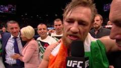 Conor McGregor after defeating Chad Mendes at UFC 189.