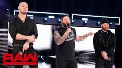 Baron Corbin, Kevin Owens and Sami Zayn on last week's RAW.