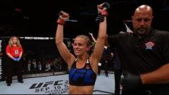 Paige VanZant after knocking out Bec Rawlings.