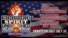 Full Cards Announced For NJPW Fighting Spirit Unleashed Tour