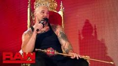 Baron Corbin on the King of the Ring throne.