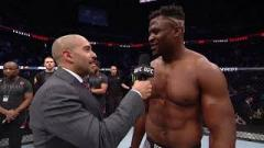 Francis Ngannou after knocking out Cain Velasquez.