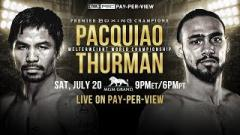 Report: VADA Not Handling Drug Testing For Pacquiao vs. Thurman