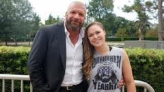Exclusive: Ronda Rousey Training In Pro Wrestling