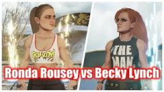 Ronda Rousey Refuses To Unlock Becky Lynch In 2K Battlegrounds, Says It's BS They're Rated The Same