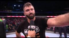 Andrei Arlovski after defeating Antonio 'Bigfoot' Silva.