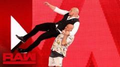 Kurt Angle Wrestles Baron Corbin At WWE's Live Event In San Antonio, Texas