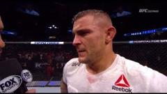 Dustin Poirier after defeating Eddie Alvarez at UFC Fight Night Calgary.