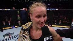 Valentina Shevchenko after winning the UFC Women's Flyweight Title at UFC 231.