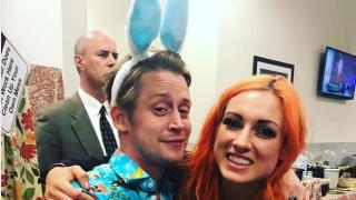 Macaulay Culkin Attended SummerSlam While Wearing Baby Blue Bunny Ears