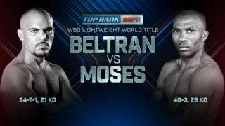 Raymundo Beltran Wins WBO Lightweight Title In Tough Fight Against Paulus Moses