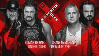 The Undertaker & Roman Reigns vs. Drew McIntyre & Shane McMahon Made Official For WWE Extreme Rules