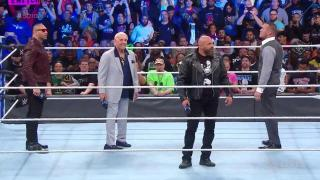 Evolution Reunites On WWE SmackDown 1000; Batista Brings Up That Triple H Has Never Beaten Him In A Match