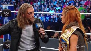 Edge Tries To Give Becky Lynch Life Advice; Cutting Edge Segment Ends With Becky-Charrlote Brawl