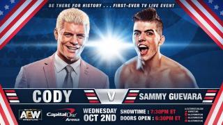 Cody Rhodes vs. Sammy Guevara Announced For AEW On TNT Debut