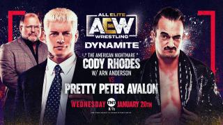 Cody Rhodes vs. Peter Avalon Set For 1/20 AEW Dynamite; Updated Card