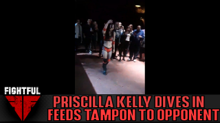 Priscilla Kelly Sticks 'Used Tampon' In Tuna's Mouth During Match, Comments On Spot
