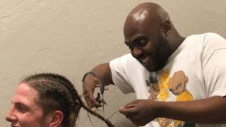 OFF THE TRACKS WITH SRS: Stokely Hathaway Tries To Cut Matt Riddle's Hair, Gets Fingers Broken Instead -- BUT WHY?