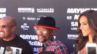 Floyd Mayweather Makes A Grand Entrance To Kickoff MayMac Fight Week