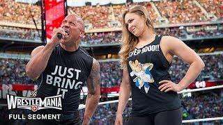 The Rock Confirms He Was Asked To Team With Ronda Rousey At WrestleMania 34